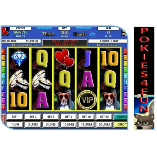 Win Xp,Vista,7,- Slot Factory - Three Hearts - Slot Games - Full Version D/load (Pc)